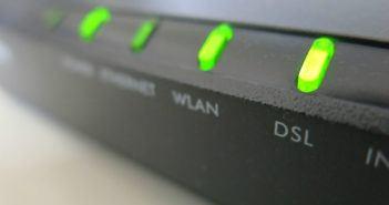 Router mit Kontrolleuchte DSL