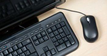 Der Nummernblock einer Tastatur