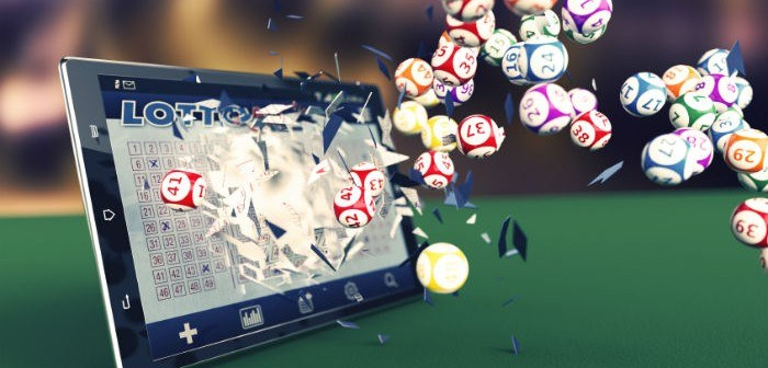Tablet mit Lotto App