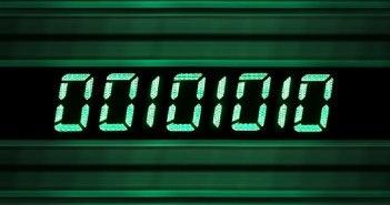 binärer Zahlencode in grün 00101010