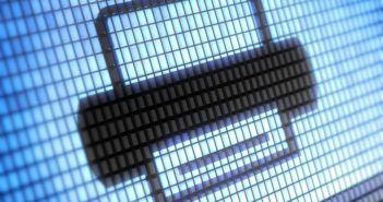 Symbol eines Druckers in Pixelform