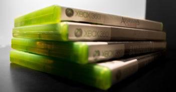 Xbox360 Videospiel Stapel