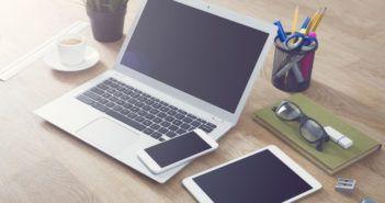 Laptop, Tablet und Handy
