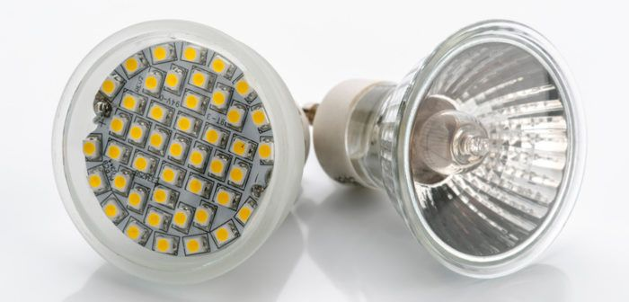 LED Lampe und Halogen Lampe