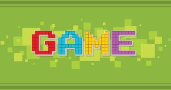 Game Schriftzug in Pixeln