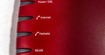 Ein DSL-Router in Nahaufnahme